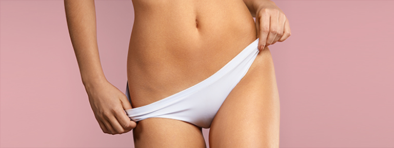 Lady with white knickers on