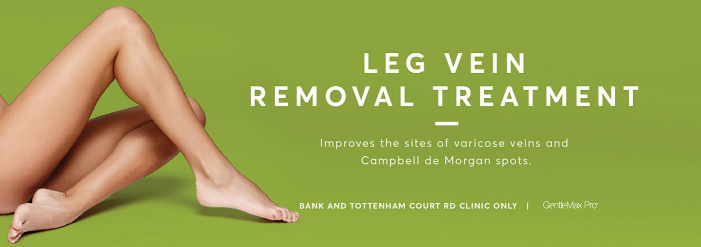 Leg vein removal banner graphic