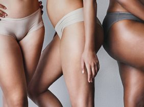 Group of ladies legs after laser hair removal