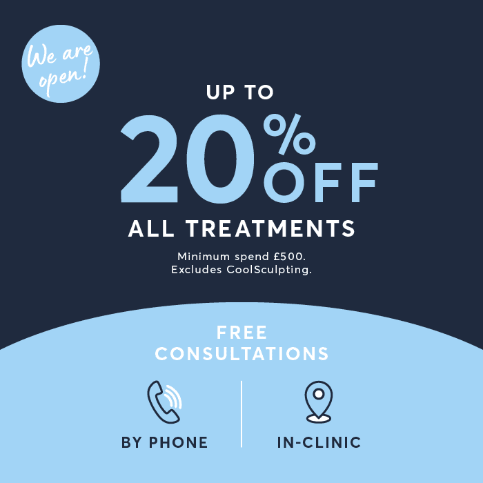 Up to 20% off all treatments pop-up ad