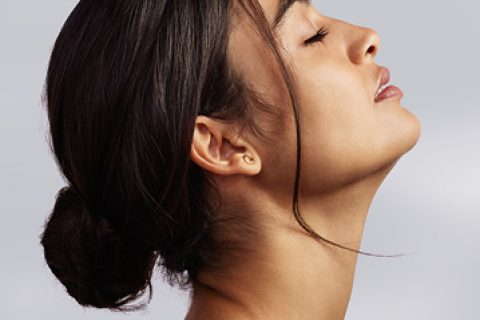 Profile of lady's neck and chin