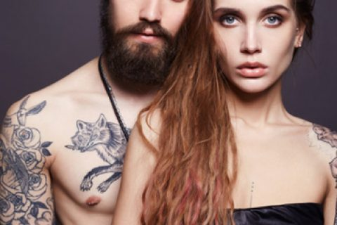Couple with tattoo's