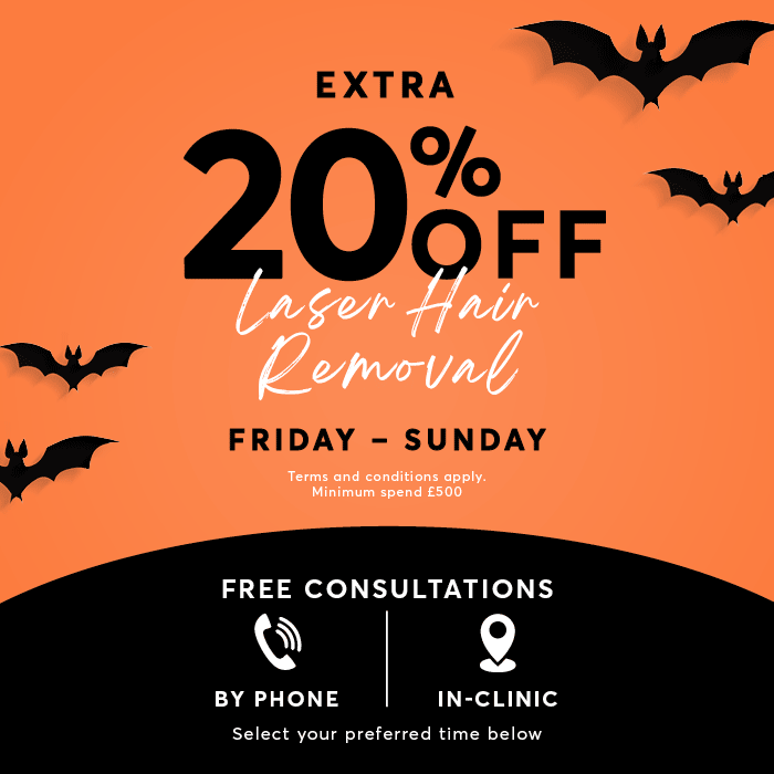 Halloween Offer 20% Off Laser Hair Removal
